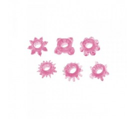 Timeless super-stretchy cock rings 6 pcs