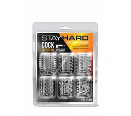 STAY HARD - COCK SLEEVE KIT CLEAR