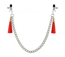 Tassel Nipple Clamp red