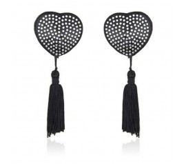 Heart shine nipples tassels  silver