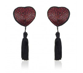 Heart shine nipples tassels red