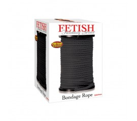 Fetish Fantasy Series Bondage Rope Per Meter Black 61 Meter