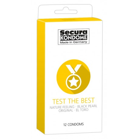 Secura kondoomide segupakk Test the Best 12 tk