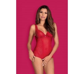 Rougebelle crotchless teddy red