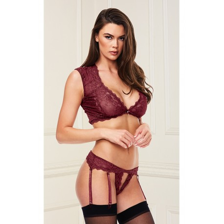 SEXY LACE BRA & G-STRING SET RED