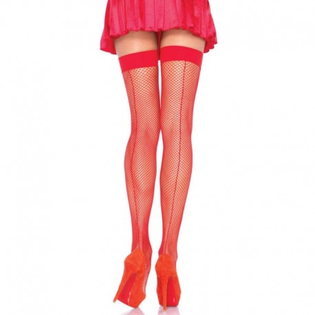Stocking With Backseam - RED - O/S - HOSIERY