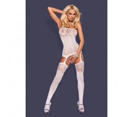 Bodystocking F204 white S/M/L