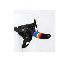 COLOURFUL LOVE STRAP ON SOLID DILDO
