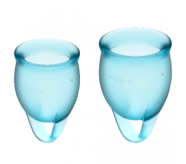 Feel confident Menstrual Cup light blue