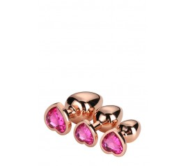 GLEAMING LOVE ROSE GOLD PLUG SET