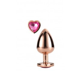 GLEAMING LOVE ROSE GOLD PLUG MEDIUM