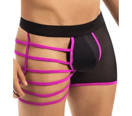 Rosy Neon Effect Straps Boxer Brief