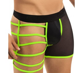 Green Neon Effect Straps Boxer Brief