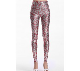 Pink Metallic Look Serpentine Tight Pant