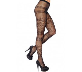 Striped Antique Lace Pantyhose