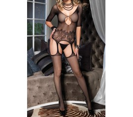 Bold Cutouts Crotchless Fishnet Bodystocking