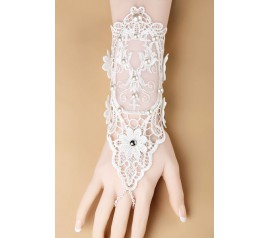 Sweet Pearl Lace Wedding Bracelet