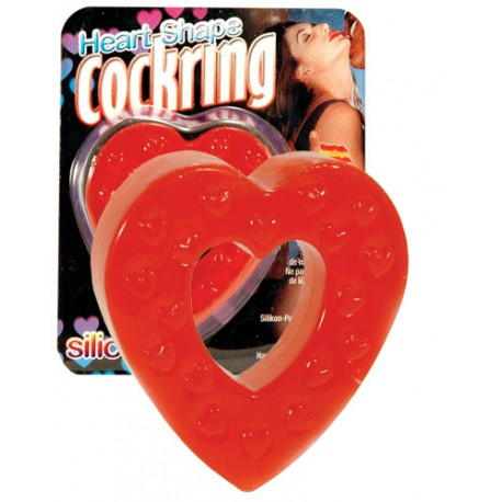 Heart Shaped Silicon Cockring
