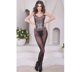 Crystal Spider Nylon Womens Body-Stocking