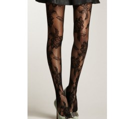 Seamless Floral Fishnet Tights
